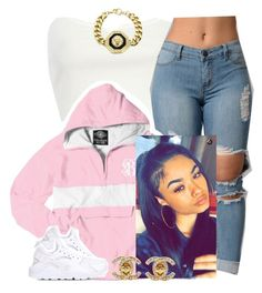 """""""✨"""" by newtrillvibes ❤ liked on Polyvore featuring River Island, NIKE and Roial"""