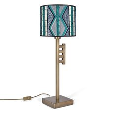 Owuo Atwedee Lamp - The ladder-like form is insipired by the 'Owuo Atwedee' Adinkra symbol used by the Akan people of Ghana. It represents the ladder of death and symbolises the futile nature of life. The 'Owuo Atwedee' lamp is a 3rd Culture design inspired by Ghana, made in Turkey. Size: 25 W x 25 D x 64 H cm