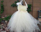 Tutu Dress, Flower Girl Dress, Silver Tulle, Lavender Ribbon, Pink Lily, Fabric Flower, Portrait Dress, Wedding, Flowergirl Dress. $45.00, via Etsy.