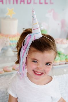 Unicorn Horn Hats Birthday Party INSTANT DOWNLOAD by ItsyBelle