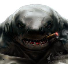 Ripster, Street Sharks - Concept 2 (Closeup) by JakeArthurDesign