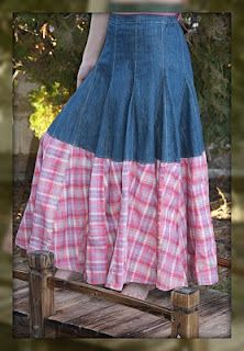 *CRAFTS*: Jean skirt styles.