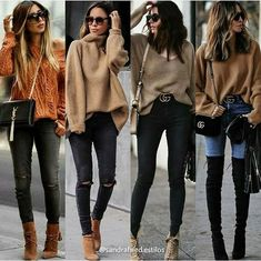 perfect ideas fall hipster outfit cardigans to beautify your style 19 ~ Modern House Design Casual Winter Outfits, Winter Fashion Outfits, Look Fashion, Fall Outfits, Autumn Fashion, 70s Fashion, Fashion Wear, Woman Fashion, Hijab Fashion