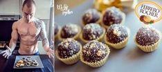 Fitness FERRERO ROCHER zdravá alternatíva | We Lift Together Ferrero Rocher, Clean Eating, Muffin, Breakfast, Fitness, Food, Diet, Healthy Meals, Morning Coffee