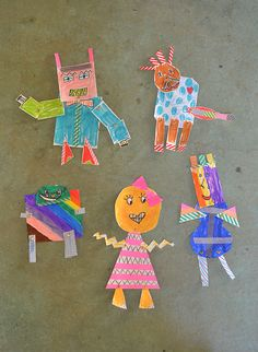 make paper robots with brass fasteners