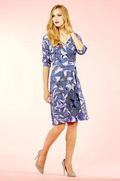 Rope Print Wrap Jersey Dress - £89