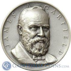 James A Garfield Presidential Silver Art Medal - Medallic Art http://www.gainesvillecoins.com/category/293/silver.aspx