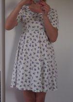 rozkloszowana sukienka w kwiaty XS/S