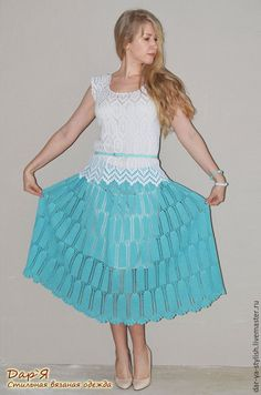 Crochet Skirts, Crochet Tops, Rubrics, Short Skirts, Crochet Patterns, Cover Up, Knitting, Clothes, Charts