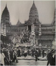 Angkor Wat replica in the 1931 Exposition Coloniale Internationale in Paris