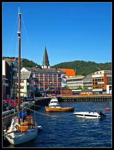 This was my hometown for a year!  Molde, Norway - The City of Roses.