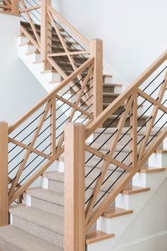 love this stair :: Avondale lane :: Ashley Winn Design Farmhouse Stairs, Modern Farmhouse, Farmhouse Style, My House, Future House, Balustrades, Staircase Remodel, Stair Railing, Banisters
