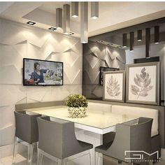 Tons neutros ... .muita iluminação e um lindo revestimento são os destaques dessa linda sala de almoço By @_gabriellamenezes_ #arquitetura #archidesign#ambientes #decore #arquiteturadeinteriores #home #homedecor #homestyle #style #homedesign #iluminação #lamps #interiores #saladealmoço #luxury #instahome #instadesign #design #instadecor #interiordesign #idea #decoreseuestilo #designdecor #decoracaodeinteriores #detalhes #decorazione #decorando #detail #decordesign #decoração