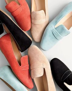 J.Crew women's Georgie suede penny loafers.