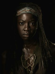 The Walking Dead.The baddest female character in history, Michonne.