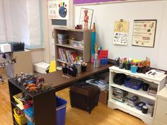 Drawing Center. This is a supply hub. Students take supplies back to tables to work.