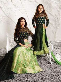 Green Raw Silk Mother Daughter Combo Lehenga-MZ158406  Get from : https://lnkd.in/fd4-D-f  #indiabazaaronline #PremiumCollection #MotherDaughterCollection #MotherDaughterCombo #Designerdresses #PartyWear #Bollywooddresses #CelebrityCollection #longdresses #weddingwear #motherdaughterdresses #LikeMotherLikeDaughter #motherdaughterdressset #motherdaughterethnicdresses #motherfordaughter #motherndaughter #mummybeticollection #plussizecollection #indowestern