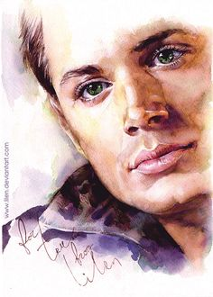 Dean. Watercolor. by LiLen on deviantART (OH MY GOSH ART FEELS ABSOLUTELY AMAZING)