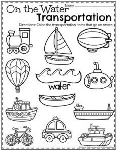 Best science preschool transportation for kids 23 Ideas Kindergarten Math Worksheets, Preschool Classroom, Preschool Learning, Worksheets For Kids, Preschool Crafts, Alphabet Worksheets, Water Theme Preschool, English Kindergarten, Teaching
