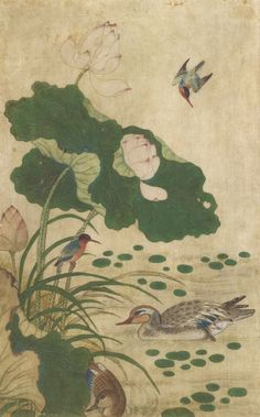 korean-paintings-of-flower-and-bird-ananzon.jpg (500×803)