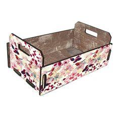 Caixote de Feira Fruteira Floral e Pássaros | Boutique de Luxo - BoutiqueDeLuxo