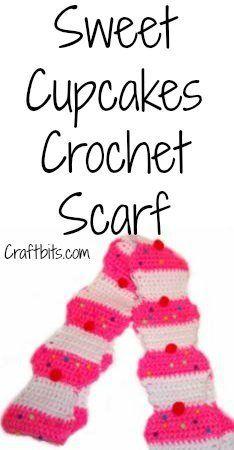 Crochet Scarf: Sweet Cupcakes — craftbits.com