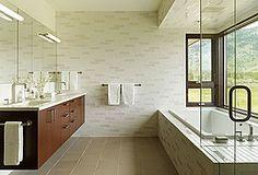 Great Contemporary Master Bathroom