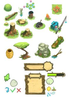 Mobile games by Mickael Balloul, via Behance: