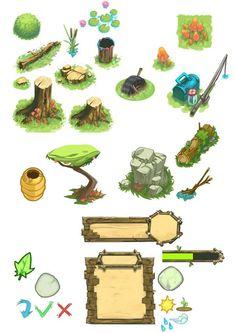 Mobile games by Mickael Balloul, via Behance: