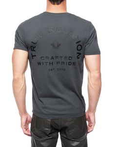 0c8878c9232b2 Add True Religion to your most staple pieces with one of our signature logo  t-shirts. The super soft Crafted With Pride Mens T-Shirt is a classic.