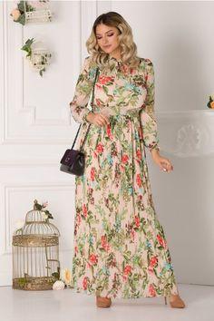 Rochii cu Imprimeuri Pastel, Dresses With Sleeves, Women's Fashion, Long Sleeve, Floral, Cake, Fashion Women, Sleeve Dresses