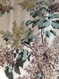 Andrés Intimates studio tour | Detail view of an original print on a vintage robe from their archive