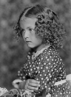 +~+~ Vintage Photograph ~+~+  Curly haired cutie from the studios of Šechtl & Voseček.