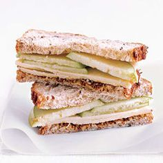 27 Awesome Easy Lunches To Bring To Work. cheddar apple sandwich