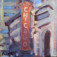 """Chicago Theater"" original fine art by Heidi Malott"
