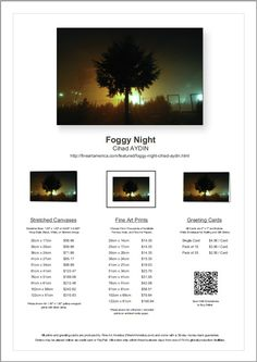 Foggy Night Available for Sale on FineArtAmerica!  http://fineartamerica.com/featured/foggy-night-cihad-aydin.html #fineartamerica #fog #foggy, #night #photography #yellow #green #blue #sky #stars #tree #silhouette #garden