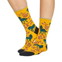 Filly women's soft bamboo crew socks in mustard Silly Socks, Women's Socks, Crew Socks, Fluffy Socks, Cashmere Socks, Bamboo Socks, Novelty Socks, Feeling Great, Organic Cotton