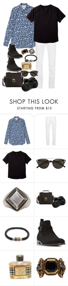 """Inspired by Harry Styles"" by nikka-phillips ❤ liked on Polyvore featuring MANGO, Acne Studios, Christian Dior, Ann Demeulemeester, Bling Jewelry, Dune, Alexander McQueen, men's fashion and menswear"