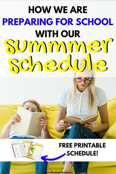 Our Sample Daily Summer Schedule For Kids At Home (+Printable) Preschool Learning Activities, Summer Activities For Kids, Infant Activities, Toddler Preschool, Kids Summer Schedule, Summer Plan, Kids Calendar, Calendar Time, Time Management Printable