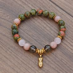 Smoky Quartz + Unakite