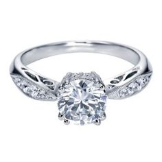 Platinum Pave Set Filigree Engagement Ring Wedding Day Diamonds