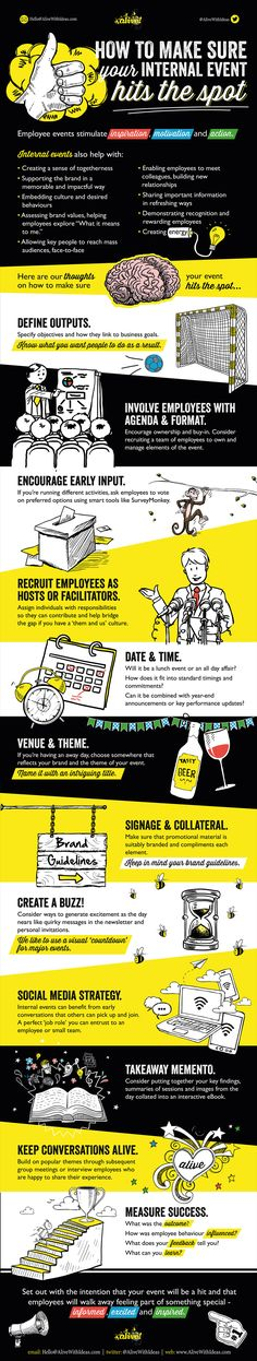 How to Make Sure Your Internal Event Hits the Spot #infographic #InternalCommunication #Communication #Business