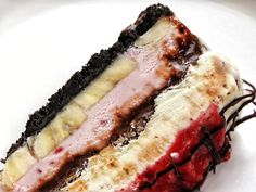Banana Split Ice Cream Cake - I had never made this kind of ice cream cake before, but it's definitely a new favorite.,,,