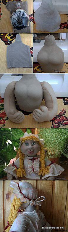 Кукла-пакетница. Мастер-класс от Жаным - Фото и видео мастер-классы по шитью