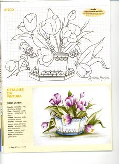 Arquivo dos álbuns Tole Painting, Fabric Painting, Painting & Drawing, One Stroke Painting, Marker Kunst, Marker Art, Watercolor Fabric, Watercolor Flowers, Beautiful Flower Drawings