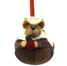 Pilgrim Bear with Bonnet Ornament