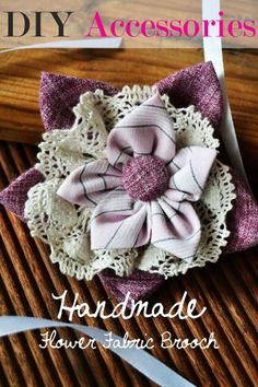 DIY Fabric Flower Brooch