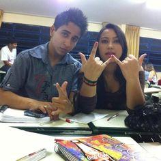 #JennyReis <3 #FelipeGarcia foto tirana na sala de aula