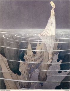 by François Schuiten. This reminded me of you because under the water is her castle... (her dreams & desires, her comfort, her life...)
