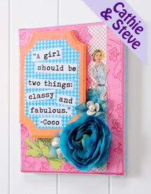 mod podge layered quote